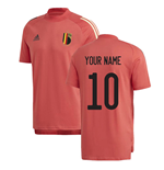 2020-2021 Belgium Adidas Training Tee (Red) (Your Name)