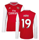 2019-2020 Arsenal Adidas Home Long Sleeve Shirt (Kids) (Pepe 19)
