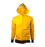 ADVENTURE TIME Jake Full Length Zipper Hoodie, Male, Medium, Yellow/Black