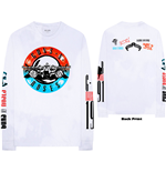 Guns N' Roses Unisex Long Sleeve Tee: Motorcross Logo (Back & Arm Print)