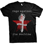 Rage Against The Machine Unisex Tee: Bulls on Parade Mic