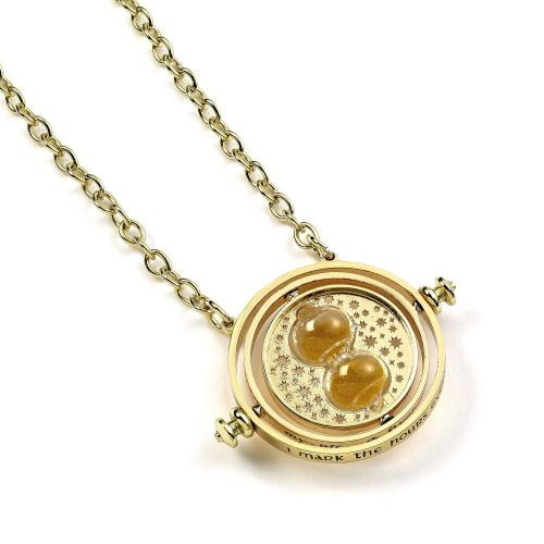 Harry Potter Gold Plated Necklace Time Turner