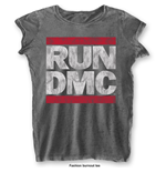 Run DMC: DMC Logo Grey Women's T-shirt
