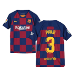 2019-2020 Barcelona Home Nike Shirt (Kids) (PIQUE 3)