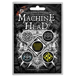 Machine Head Button Badge Pack: Crest