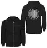 Bring Me The Horizon Ladies Zipped Hoodie: Flower of Life (Back Print)