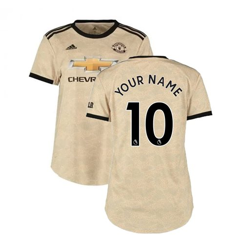 Buy Official 2019 2020 Man Utd Adidas Womens Away Shirt Your Name