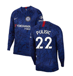2019-2020 Chelsea Home Nike Long Sleeve Shirt (Pulisic 22)