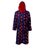 Superman All Over Symbol Blue and Red Reversible Robe