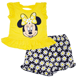 Minnie Mouse Puff Print Daisy Baby Toddler Girls Shirt and Shorts Set