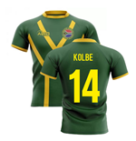 2019-20 South Africa Springboks Flag Concept Rugby Shirt (Kolbe 14)