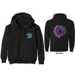 Blink-182 Unisex Zipped Hoodie: Double Six Arrow Smiley (Back Print)