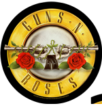 Guns N' Roses Patch Bullet Logo (BACKPATCH)