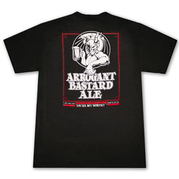 Stone Brewing Co. ARROGANT BASTARD Ale You're Not Worthy Black T Shirt
