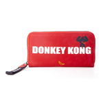 NINTENDO Donkey Kong Logo Zip Around Wallet Purse, Female, Red