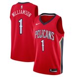 Men's New Orleans Pelicans Zion Williamson Nike Red Statement Edition Swingman Jersey
