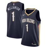 Men's New Orleans Pelicans Zion Williamson Nike Navy Icon Edition Swingman Jersey