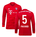 2019-2020 Bayern Munich Adidas Home Long Sleeve Shirt (Pavard 5)