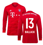 2019-2020 Bayern Munich Adidas Home Long Sleeve Shirt (BALLACK 13)