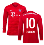2019-2020 Bayern Munich Adidas Home Long Sleeve Shirt (ROBBEN 10)