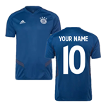 2019-2020 Bayern Munich Adidas Training Shirt (Night Marine) (Your Name)