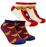 Wonder Woman 1984 Movie Shorties Women's 2-Pack Socks