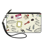 Friends Icons Zipper Wallet