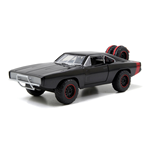 FAST & FURIOUS Fast & Furious 7 Dom's 1970 Dodge Charger R/T Off-road Muscle Car, Unisex, 1:24 Scale, Eight Years and Above, Black