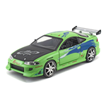 FAST & FURIOUS Brian's 1995 Mitsubishi Eclipse Sports Car, Unisex, 1:24 Scale, Eight Years and Above, Green