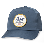 Original Pabst Blue Ribbon Beer Patch Adjustable Blue Snapback Hat
