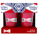 Budweiser 6-Pack Reusable Plastic Cups