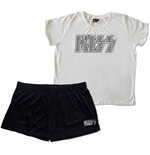 KISS Ladies Summer Pyjamas: Logo Infill