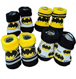 Batman Patterned Baby Bootie 4-Pack Set