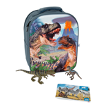 ANIMAL PLANET Mojo Dinosaur Prehistoric Life 3D Backpack Playset , Unisex, Three Years and Above, Multi-colour