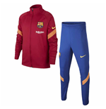 2020-2021 Barcelona Nike Dry Strike Tracksuit (Noble Red)