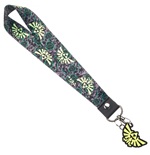 Legend of Zelda Wristlet Short Lanyard with Charm and Sticker