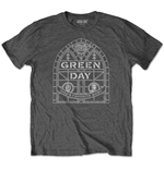 Green Day Unisex Tee: Stained Glass Arch