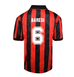 Score Draw AC Milan 1994 Retro Football Shirt (BARESI 6)