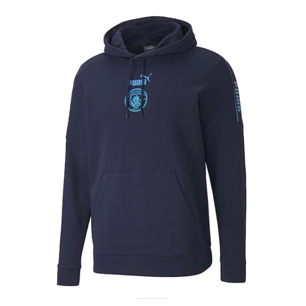 2020-2021 Man City ftblCore Graphic Sweat Top (Peacot-White)