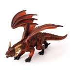 ANIMAL PLANET Fire Dragon with Articulated Jaw Toy Figure, Unisex, Three Years and Above, Multi-colour