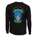 ROGUE ALES Dead Guy Long Sleeve Black Graphic Tee Shirt