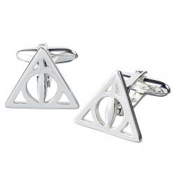 Harry Potter Sterling Silver Cufflinks Deathly Hallows