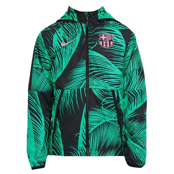 2020-2021 Barcelona Allweather Fan Jacket (Green) - Kids
