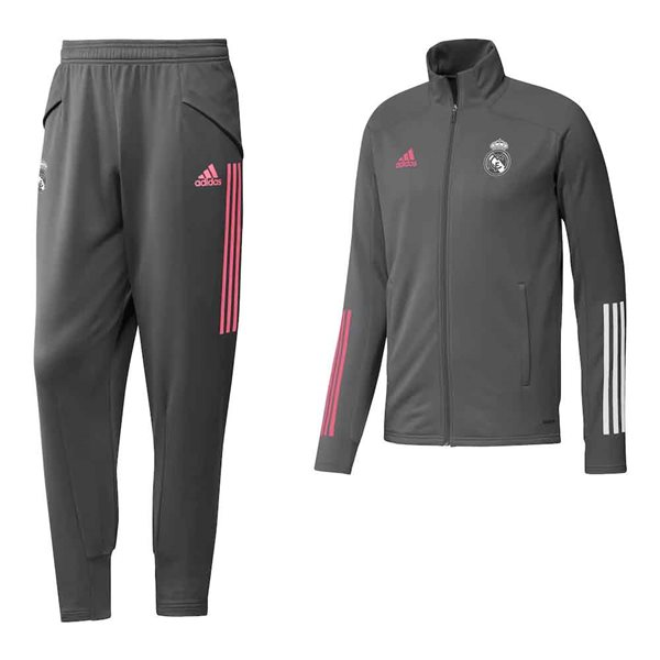 2020-2021 Real Madrid Adidas Training Tracksuit (Grey)