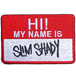 Eminem Standard Patch: Slim Shady Name Badge