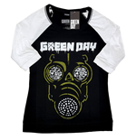 Green Day Unisex Raglan Tee: Green Mask