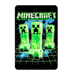 Minecraft Creeper Digital Fleece Throw Blanket