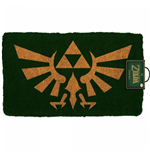 Zelda Hyrule Crest 17x 29 Doormat with Non-Skid Back