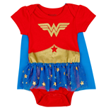 Wonder Woman DC Comics Symbol Snapsuit with Cape