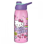 Hello Kitty Rainbow Treat And Stars Water Bottle W/ Lid